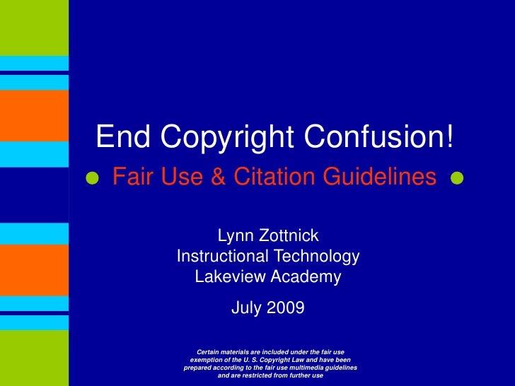 Copyright & Plaigarism 2009