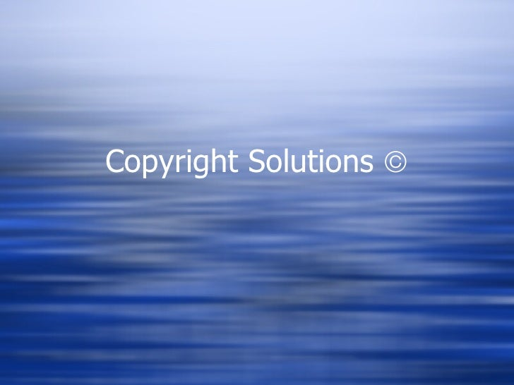 Copyright Solutions  