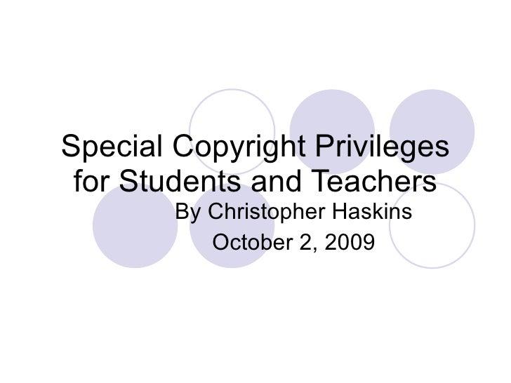 Copyright Privileges