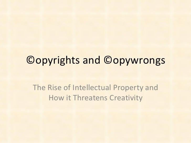 Copyrights Copywrongs