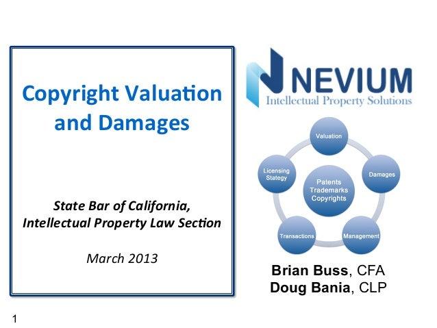 Copyright valuation damages nevium 2013