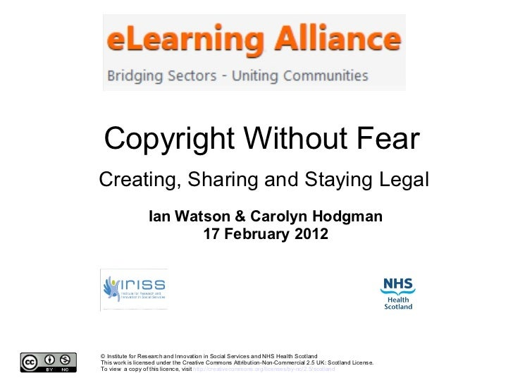 Copyright without fear