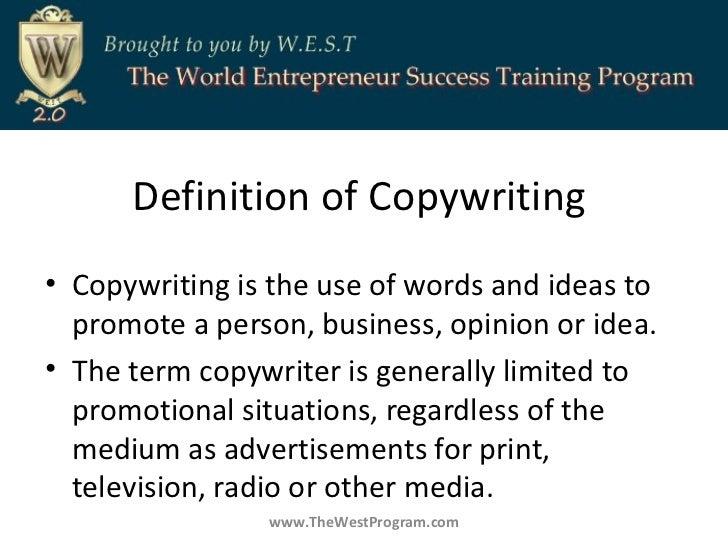 Define copy writing