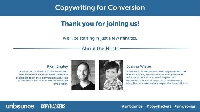 Copywriting for Conversion Webinar with Joanna Wiebe