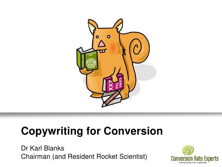 Copywriting for conversion, what the hell are the words that sell? - Dr Karl Blanks