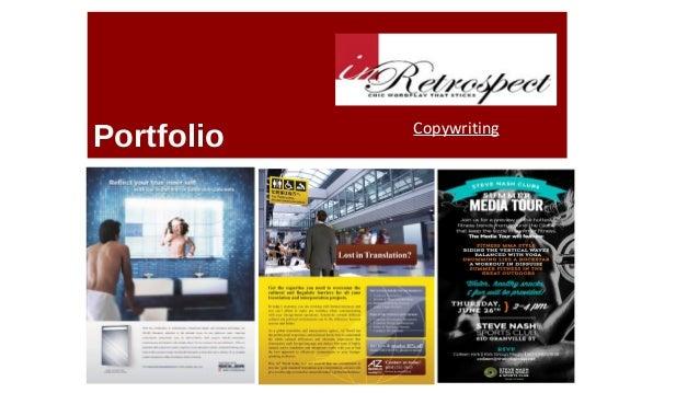 Portfolio Copywriting