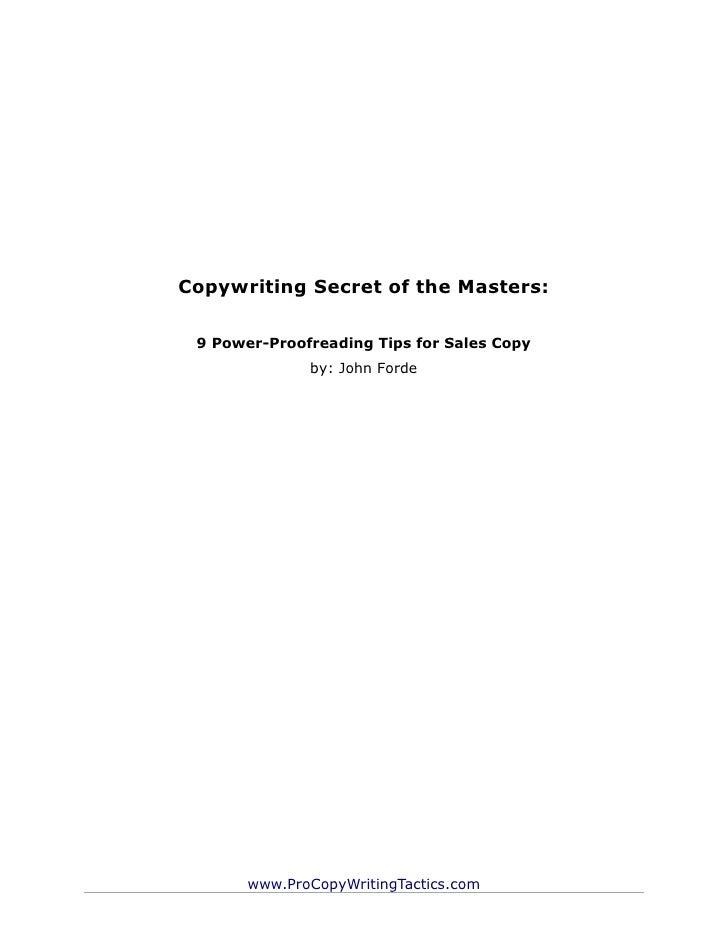Power proof reading
