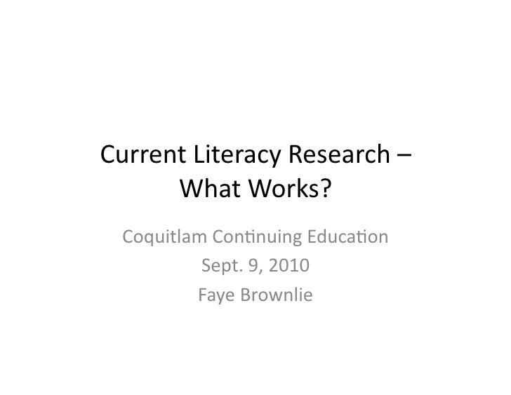 Coq Continuing Ed   Literacy