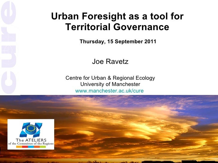 Urban foresight - Joe Ravetz - 15-09-11