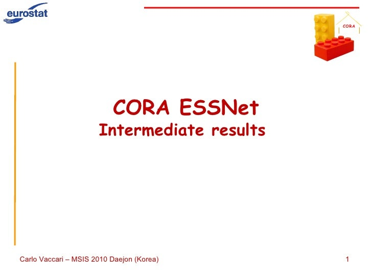 CORA for MSIS 2010