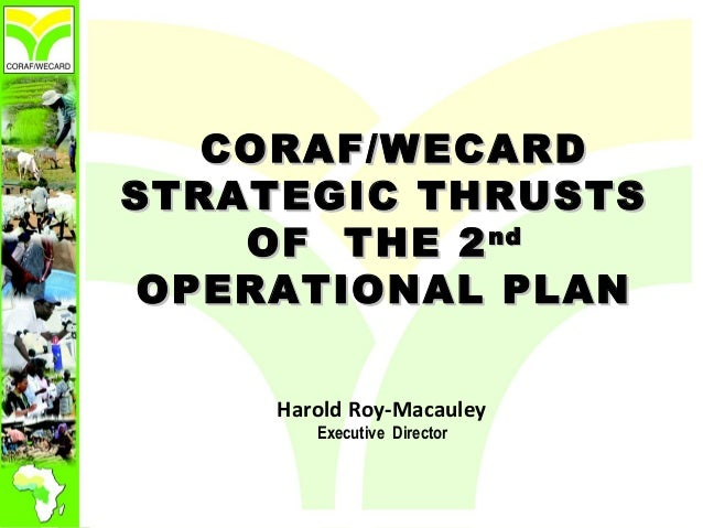 CORAF/WECARD STRATEGIC THRUSTS OF  THE 2nd OPERATIONAL PLAN
