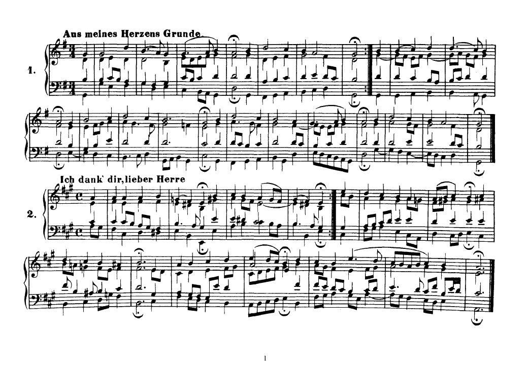 Corais de Bach