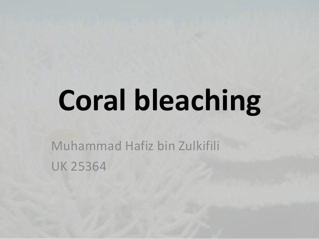 Coral bleachingMuhammad Hafiz bin ZulkifiliUK 25364