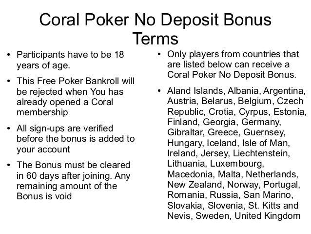 Vulcan poker no deposit bonus