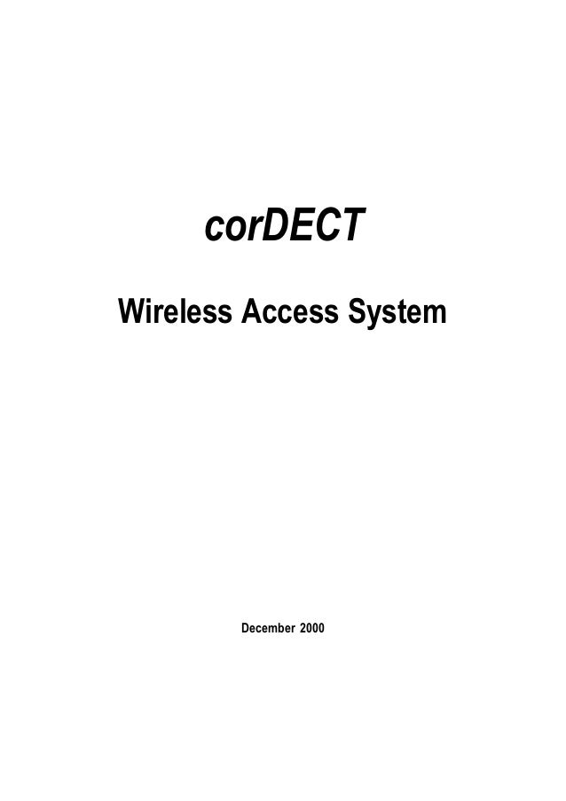 corDECTWireless Access System        December 2000