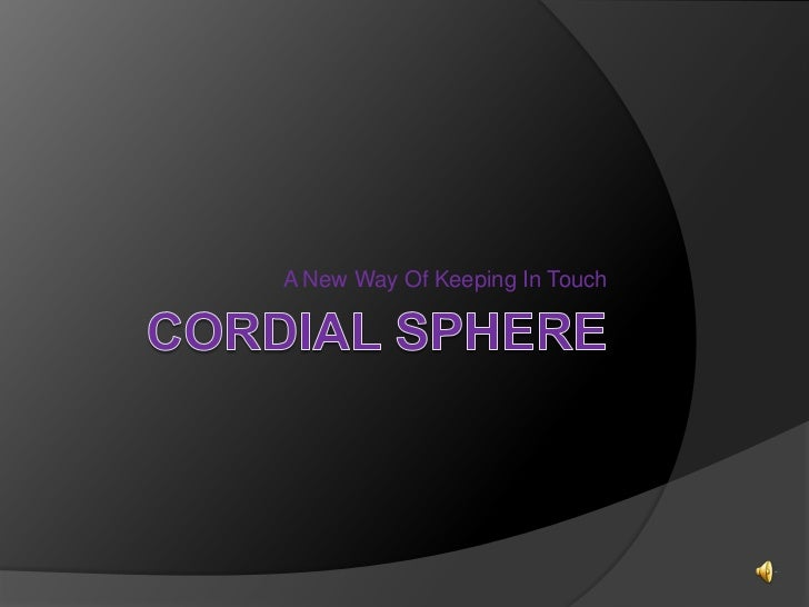 Cordial sphere