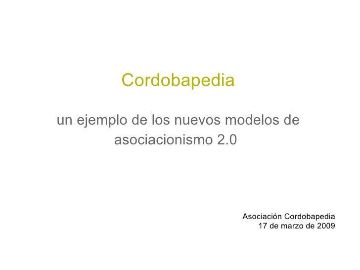 Cordobapedia. Asociacionismo 2.0