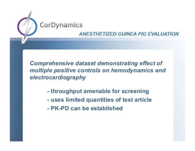 Comprehensive dataset demonstrating effect ofmultiple positive controls on hemodynamics andelectrocardiography     - throu...
