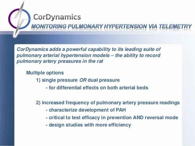 CorDynamics adds a powerful capability to its leading suite ofpulmonary arterial hypertension models – the ability to reco...