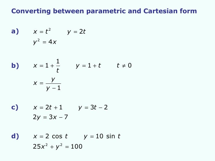Core 4 Parametric Equations 1