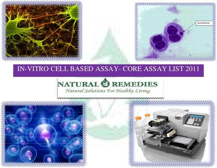 IN-VITRO CELL BASED ASSAY- CORE ASSAY LIST 2011