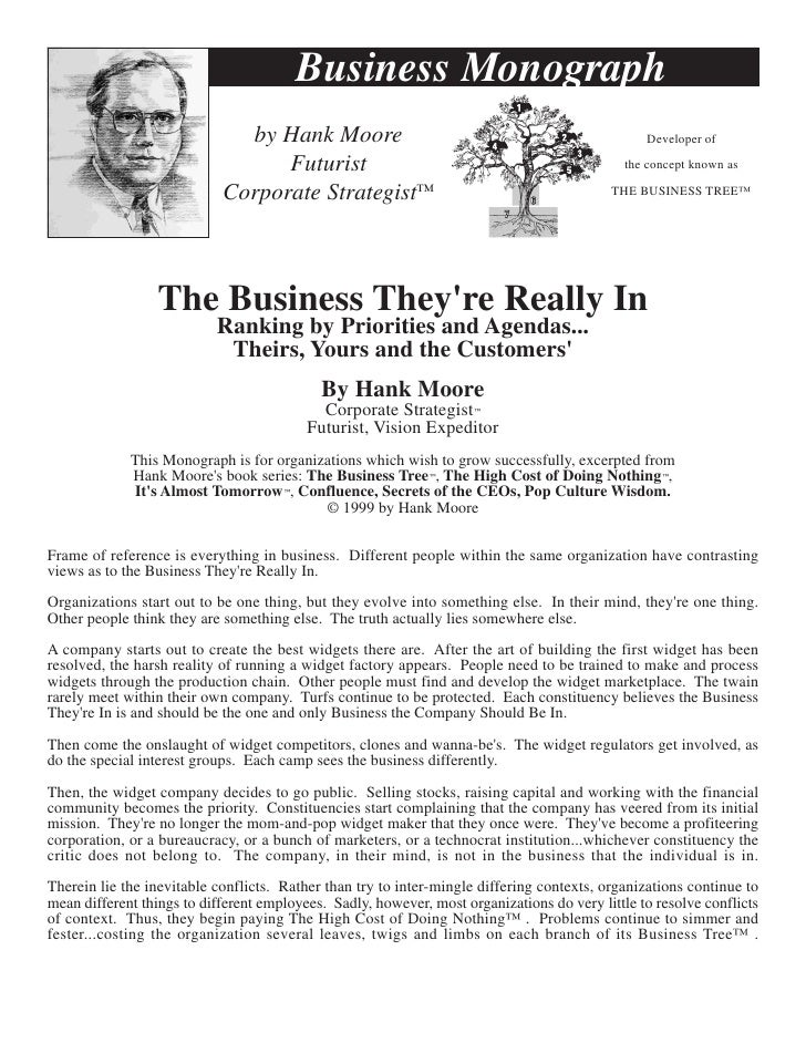 Business Monograph                               by Hank Moore                                                      Develo...