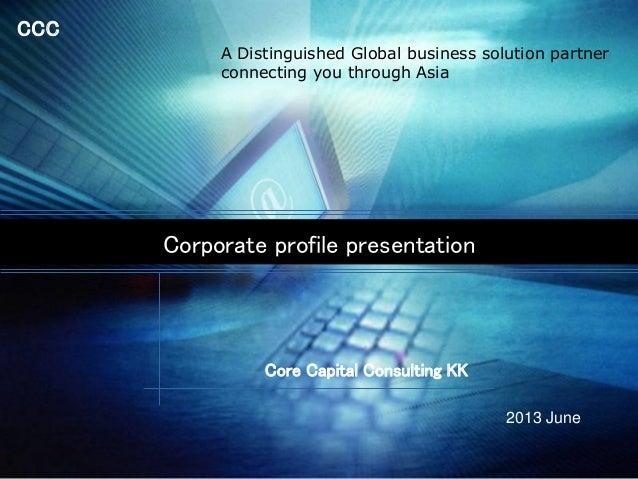 Core capital consulting  corporate profile_2013