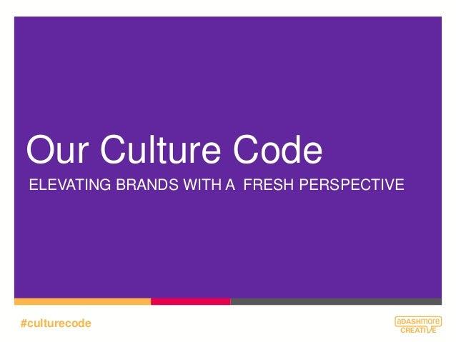 Adashmore Creative #CultureCode