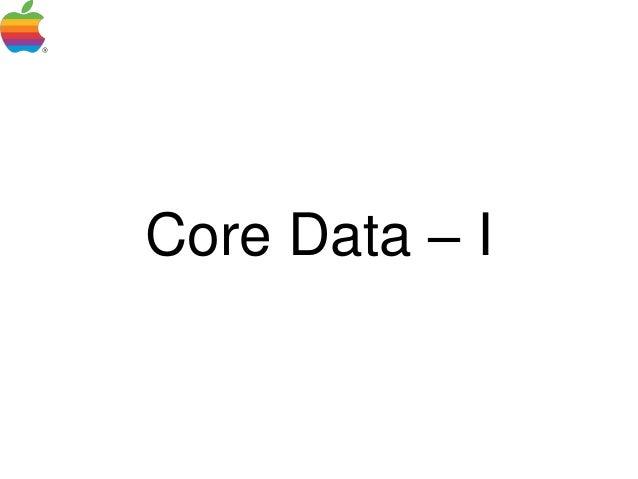 Pune-Cocoa: Core data - I