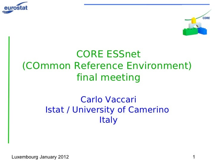 CORE final workshop introduction