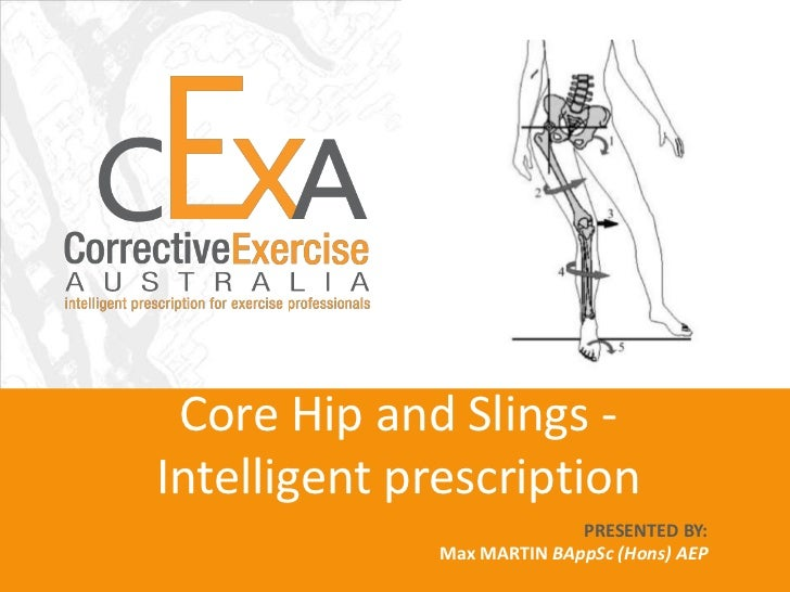Core Hip and Slings -Intelligent prescription                            PRESENTED BY:              Max MARTIN BAppSc (Hon...