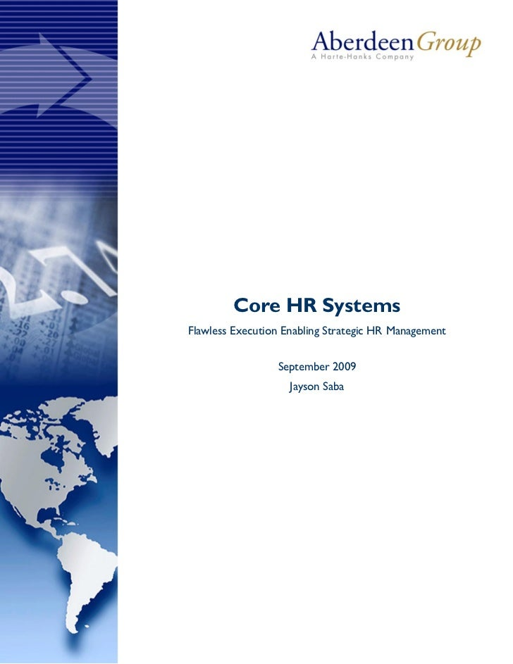 Core HR Systems - Aberdeen Research