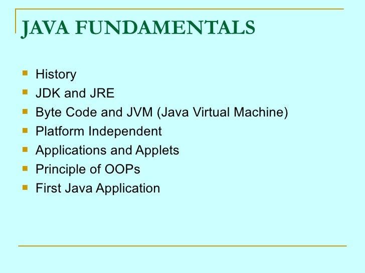 Core Java Slides