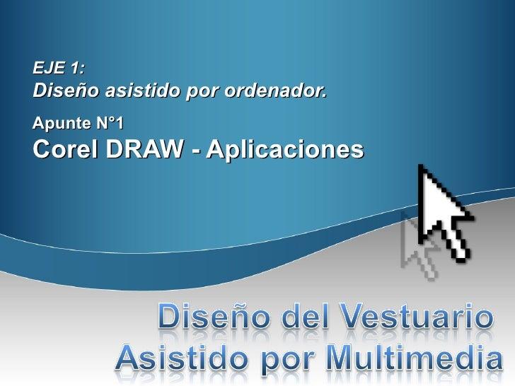 EJE 1:Diseño asistido por ordenador.Apunte N°1Corel DRAW - Aplicaciones