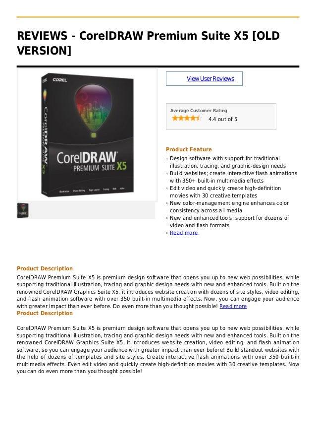 Corel draw premium suite x5 [old version]