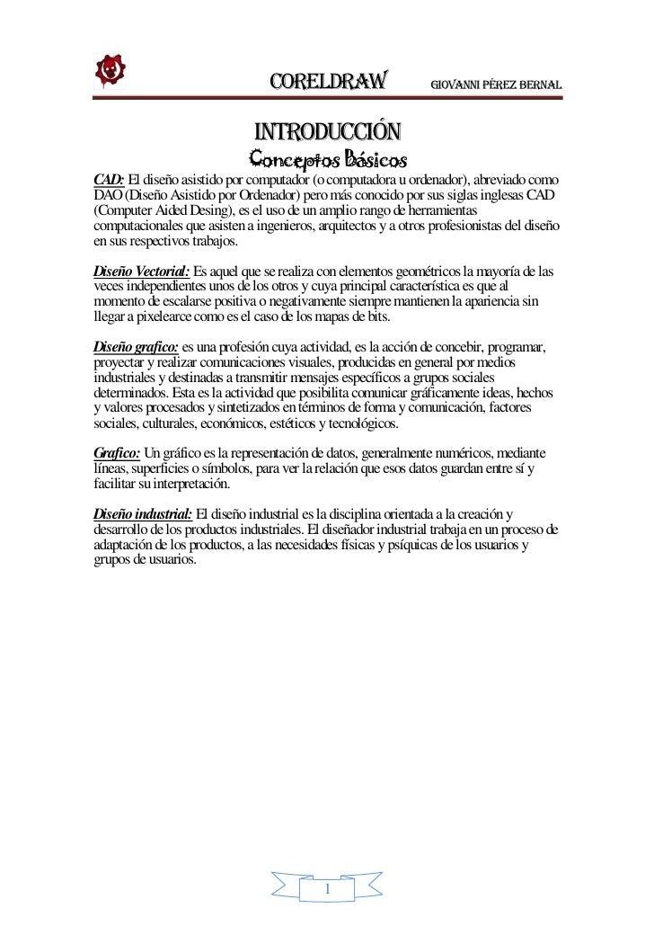 CorelDRAW                      Giovanni Pérez Bernal                                  INTRODUCCIÓN                        ...
