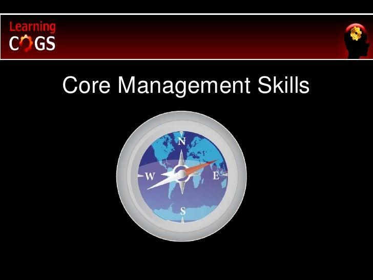 Core Management Skills<br />