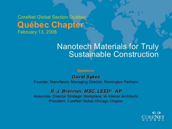 Corenet montreal 2_13_08_nanotech_materials