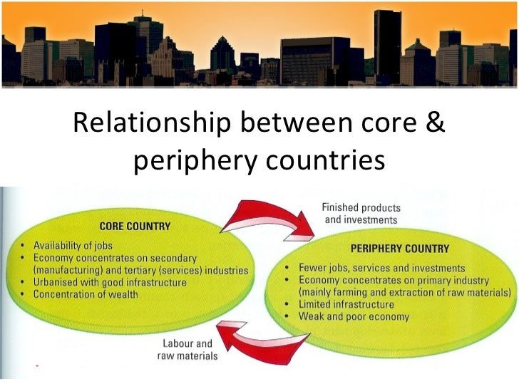 an analysis of the relationship between core and periphery nations Latin america in the world-system:  did core/periphery hierarchies  1 so that we can see whether or not there is a relationship between regime form and world.
