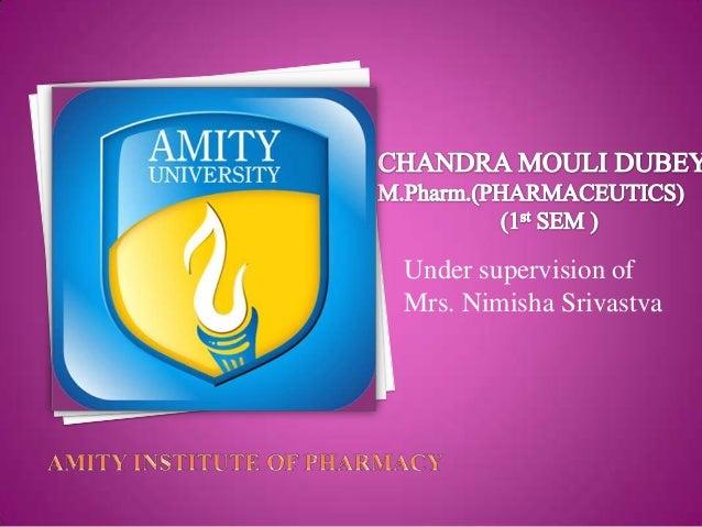 Under supervision of Mrs. Nimisha Srivastva