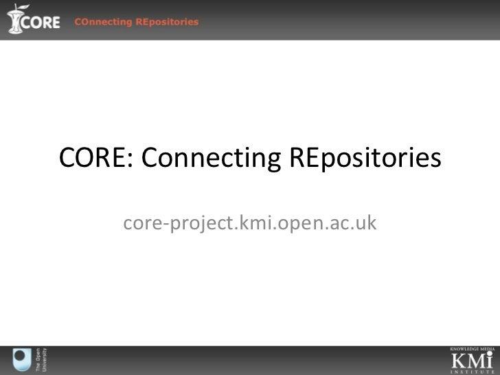Core presentation
