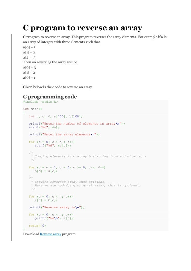 Write a program to reverse a number in unix