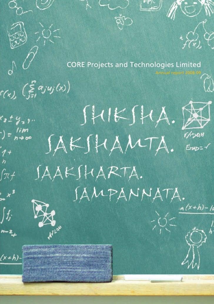 CORE Projects and Technologies Limited                          Annual report 2008-09