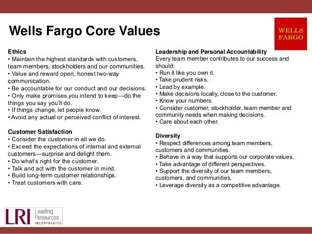 personal mission statement core values