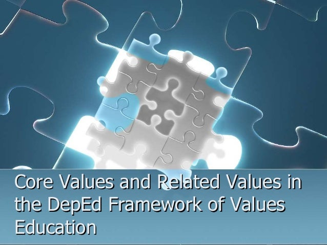 Core Values and Related Values in the DepEd Framework of Values Education