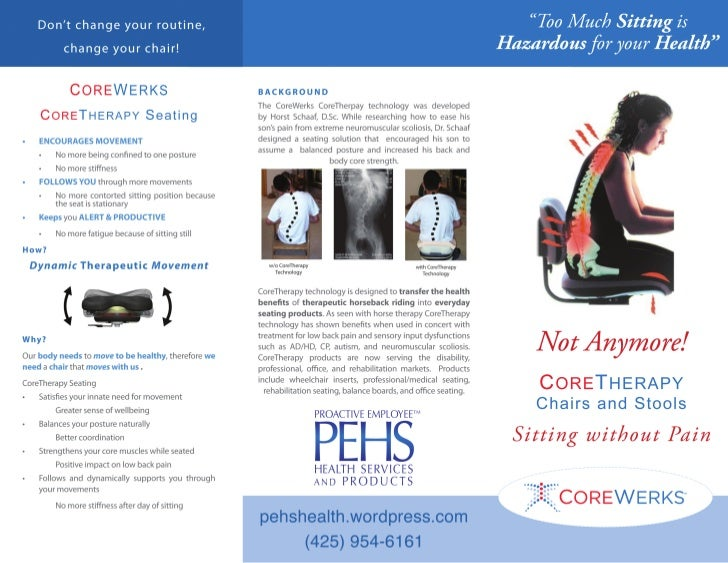 PEHS Proactive employee health services and products Corewerks brochure outside