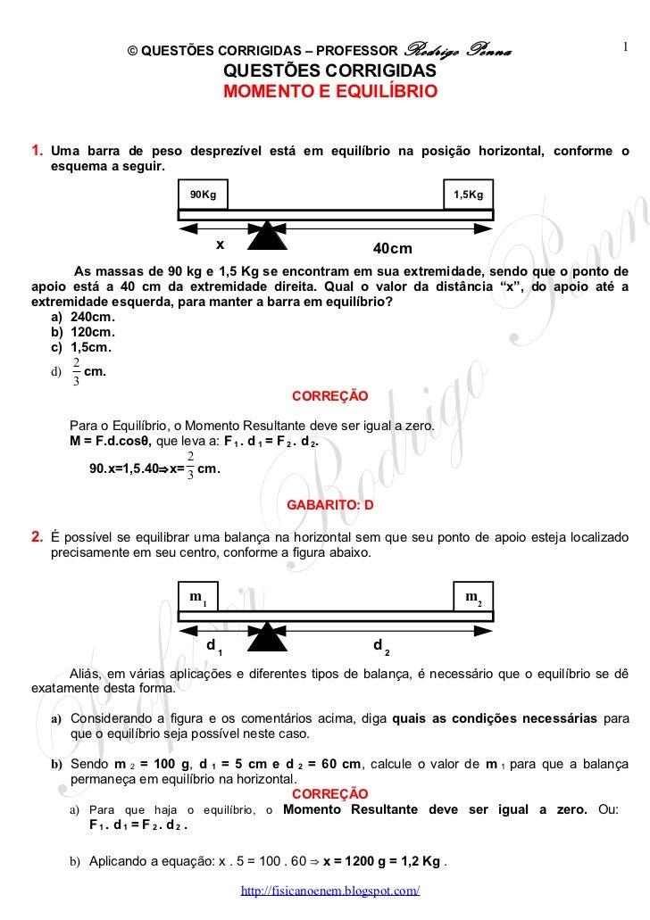 © QUESTÕES CORRIGIDAS – PROFESSOR Rodrigo                 Penna                    1                                  QUES...