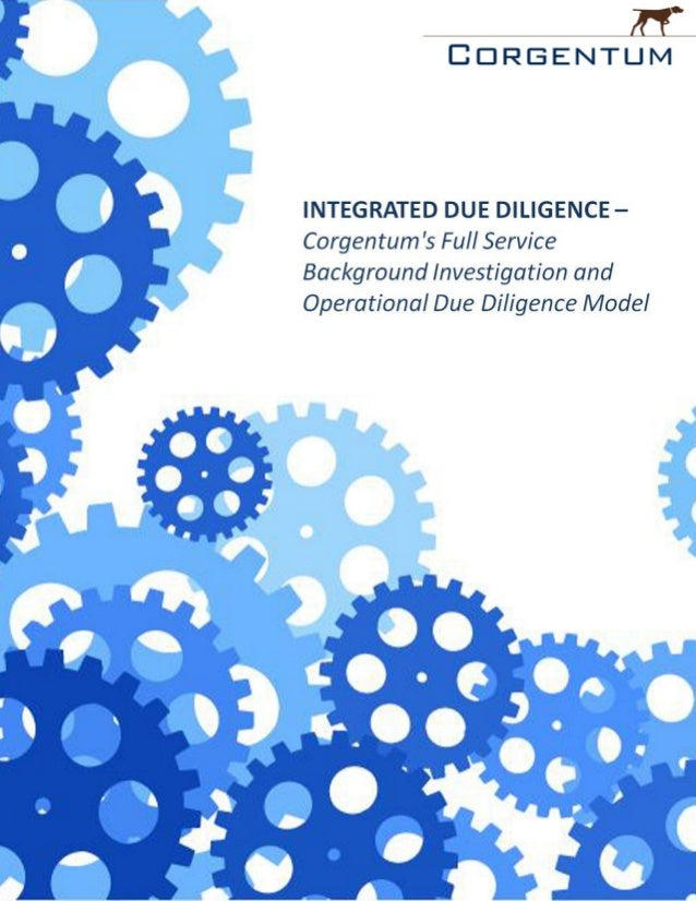 Corgentum integrated due_diligence