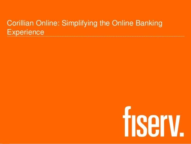 Corillian Online: Simplifying Online Banking