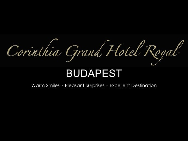 Corinthia Grand Hotel Royal Presentation